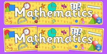 Mathematics Curriculum For Excellence Display Banner - maths