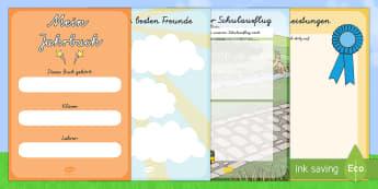 Jahresende Album Mini Buch - Jahresende Album, Schuljahresende, letzer Schultag, Sommer, Somerferien, Sammelalbum, Fotoalbum, Eri