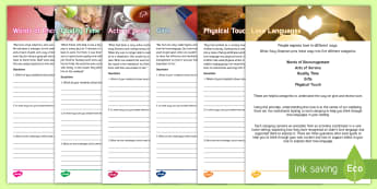 Love Languages Staff Training Resource Pack - Support, person centred care, activity coordinators, ideas, love,