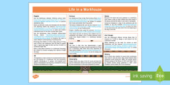 KS1 Life in a Workhouse Lesson Ideas - KS1 Workhouses, Victorian life, lesson ideas, KS1, year 1, year 2, life in a workhouse, poverty, foo