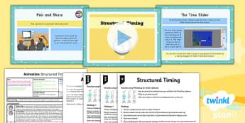PlanIt - Computing Year 4 - Animation Lesson 4: Structured Timing Lesson Pack - planit, computing, unit