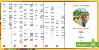 Harvest Play Script - drama, performance, assembly, Festival, celebration,Scottish