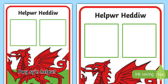 Helpwr Heddiw Display Poster-Welsh