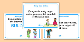 Being Kind Online Display Posters - display, posters, being kind, kindness, how to be kind online, online, internet safety, internet manners, manners, being kind online, being kind online posters, display posters, ICT classroom posters, ICT, A4 poste
