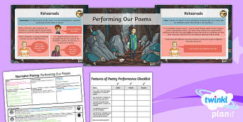 PlanIt Y5 Animals: Jabberwocky Lesson Pack Narrative Poetry (4)