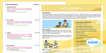 French: Let's Go Shopping Year 6 Planning Overview