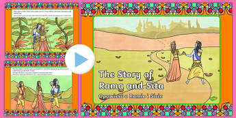 The Story of Rama and Sita PowerPoint English/Polish