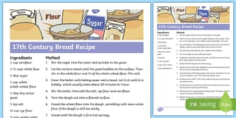 The Great Fire of London Bread Recipe