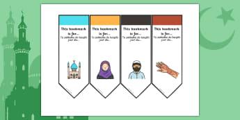 Eid Bookmarks Polish Translation - polish, eid, bookmarks, religion, festival