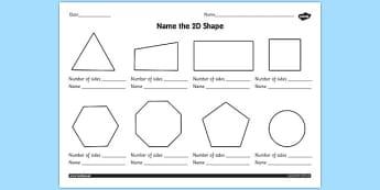 2D Shapes Worksheet - 2d shapes worksheet, ks1, 2d shape, 2d