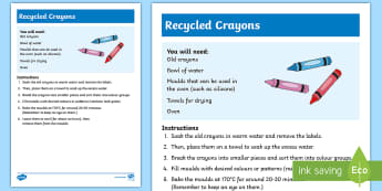 Recycled Crayons Recipe - recycled, crayons, colourful, shaped,