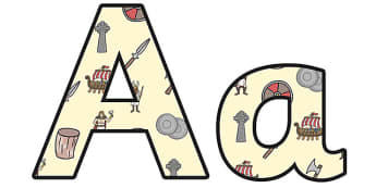The Vikings Lowercase Display Lettering - vikings, the vikings display, vikings display lettering, vikings alphabet letters, viking theme lettering, ks2