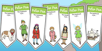 Peter Pan Editable Bookmarks - Peter, Pan, Book, Story, Bookmark