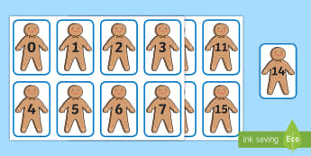 Gingerbread Man Number Cards - EYFS, Early Years, The Gingerbread Man, Traditional Tales, Maths, Numeracy, counting, numbers, seque