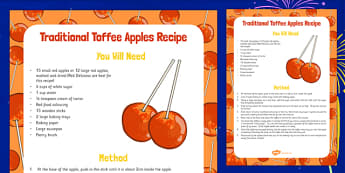 Traditional Toffee Apples Recipe - traditional, toffee, apples, recipe