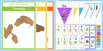Sign Language Resource Pack - Communication Support, deaf, hearing inpairment, support, ideas, inclusion, community, language, sig
