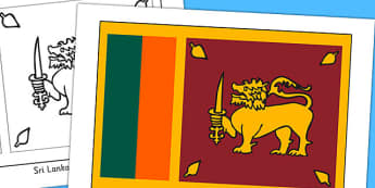 Sri Lanka Flag Display Poster - countries, geography, flags