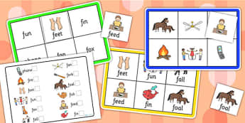 Initial f Sound Bingo and Lotto Game - sound, bingo, lotto, game