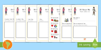 All About Me Book US English/Spanish (Latin) - All About Me Book - me, myself, ourselves, people, new term, sen, oursleves, ourselvs, all bout me,A
