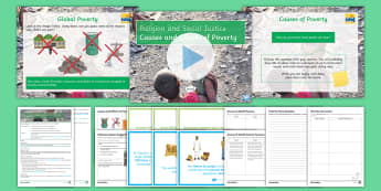 Religion and Social Justice Lesson 7: Causes and Effects of Poverty  - Poverty, Poor, Charity, Social Justice, Debt