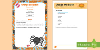 Orange and Black Treasure Basket Ideas - Treasure Baskets, Halloween, baby, babies, sensory play, colour,