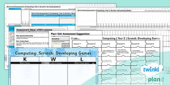 PlanIt - Computing Year 5 - Scratch Unit Assessment Pack - planit, computing, year 5, assessment, pack