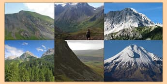 Magnificent Mountains Photo Clip Art Pack - mountains, photo, clip art