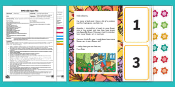 EYFS Counting in Rosie's Garden Adult Input Plan and Resource Pack - EYFS, Early Years Planning, Adult Led, Mathematics, Maths,  40-60, Selects The Correct Numeral To Re