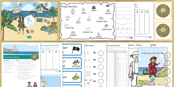 Pirates Early Childhood Activity Pack - treasure, treasure map, pirate role-play, pirate craft, pirate lesson