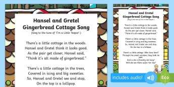 Hansel and Gretel Gingerbread Cottage Song - Hansel, Gretel, Grimm, Fairly Tale, Traditional Tale, Singing, Song Time
