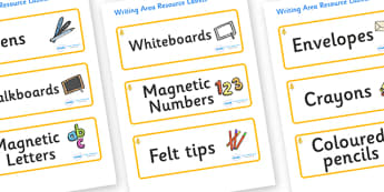 Aspen Themed Editable Writing Area Resource Labels - Themed writing resource labels, literacy area labels, writing area resources, Label template, Resource Label, Name Labels, Editable Labels, Drawer Labels, KS1 Labels, Foundation Labels, Foundation