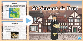 St Vincent de Paul PowerPoint-Scottish - CfE Catholic Christianity, prayers, mass responses, saints, charity, religious orders ,Scottish