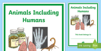 Animals Including Humans Editable Title Page - science, topic page, divider, front over, investigation