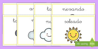 Pósters DIN A4: El tiempo - póster, pósters, DIN A4, exponer, exposición, decorar, decoración, el tiempo, tiempo, sol, nubes