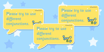 Time Saving Speech Stickers Marking Conjunctions - Connectives