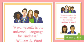 A Warm Smile A4 Display Poster - Smile, motivational, behaviour, classroom Management, display