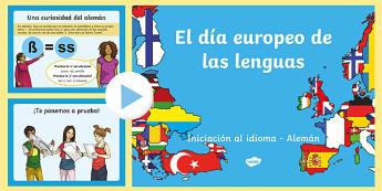 European Day of Languages Spain Introdución al alemán PowerPoint-Spanish