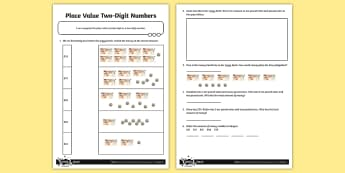 Place Value Two-Digit Numbers Money Activity Sheet - problem solving, maths mastery, year 3, fun maths, tens, ones, number value, coins, notes, problems