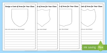 Design a Coat of Arms for Your Class Writing Frames Pack - transition, end of year, new class, class rules, new teacher