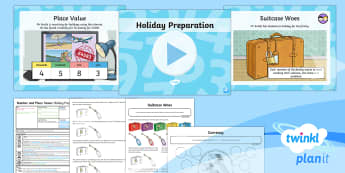 PlanIt Y4 Number and Place Value Lesson Pack Place Value (2)  - four-digit number, partition, different representation, holiday, expanded form