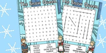 The Snow Queen Wordsearch - Worksheets, Worksheet, Activity