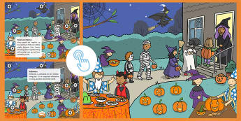 KS1 Halloween Picture Hotspots - 31st October, Costume, Pumpkins, Trick or treating, Festival