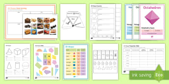 Maths Shapes Catch-Up Resource Pack - shapes, intervention, ks3