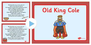 Old King Cole Nursery Rhyme PowerPoint - powerpoint, nursery