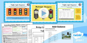 Computing: Controlling Devices Flowol: Multiple Outputs Year 5 Lesson Pack 3