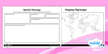 PlanIt - RE Year 4 - Pilgrimages Home Learning Tasks - Religion, religious, pilgrimage, secular, journey, Hinduism, Christianity, Islam, Judaism, Buddhism,