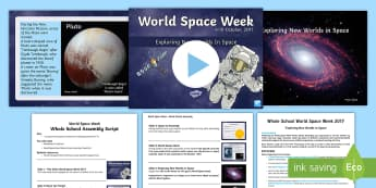 Whole School World Space Week 2017 Themed Day Resource Pack - space week, science, earth, the planets, the sun, the moon, space assembly, space day.