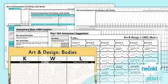 Art: Bodies LKS2 Unit Assessment Pack