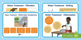 Water Treatment Display Poster - global, Africa, children, water, hygiene, sanitation