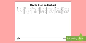 How to Draw an Elephant - - how to draw an elephant, art, craft drawing,